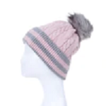 Beanie fleece lined and cable knit design in assorted colours