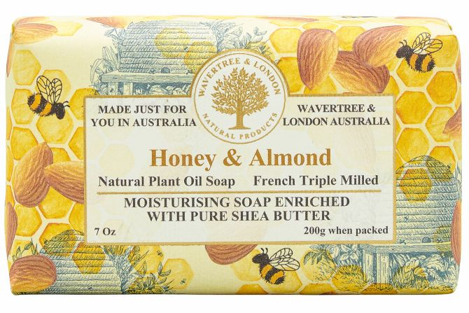 Honey & Almond Scented Soap by Wavertree & London