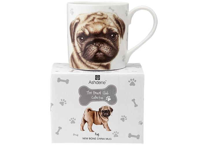 Mug - the kennel club collection from Ashdene  - pug in matching gift box