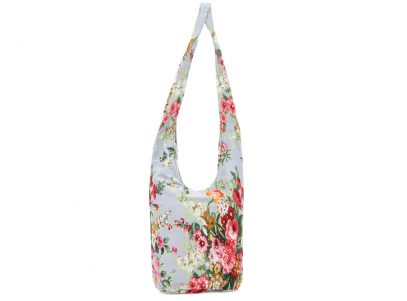 Bag - Lady Cross Body Bag in Grey Blue Floral
