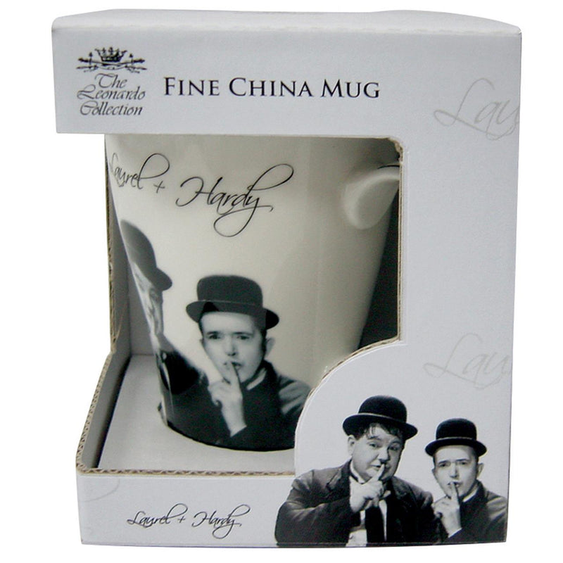 Laurel and Hardy Fine China Mug in White