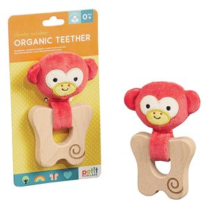Petit Collage Organic Monkey Teether for Babies