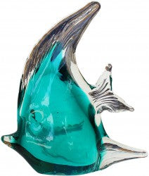 Paperweight - Angel fish teal