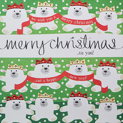 Card - Merry Christmas to you - blank inside