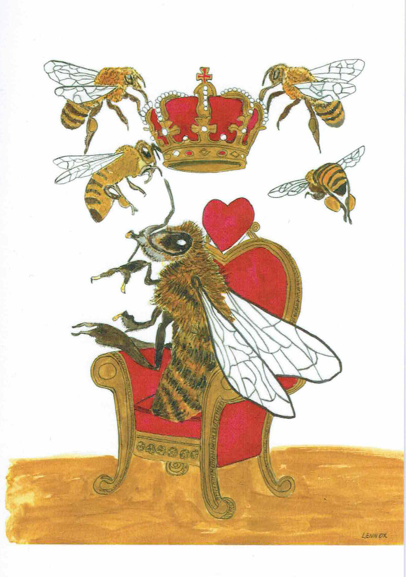 "Card ""Queen Bee"" by Tasmanian Artist Grant Lennox"