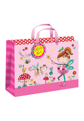 Gift bag with sparkly birthday wishes - 350mm(w) x 270mm(h) x 120mm(d)