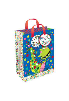 Gift bag with gift tag - Happy Birthday