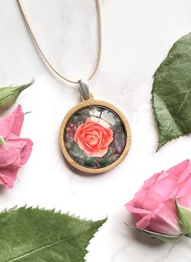 Medium Pendant/Necklace by Myrtle & Me - Rose (Made in Tasmania)