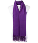 Scarf in assorted colours with fringe