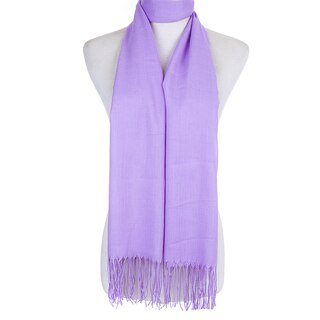 Ladies Plain Scarf with Fringe in Various Colours