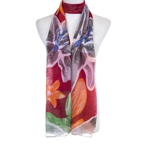 Ladies Lightweight Scarf in Bright Colours and Designs