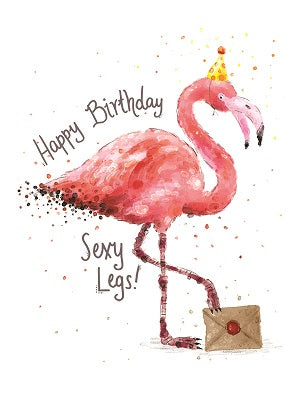 Card Happy Birthday sexy legs