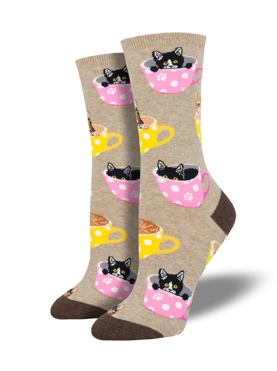 Socksmith Ladies Socks - Cat-Feinated !