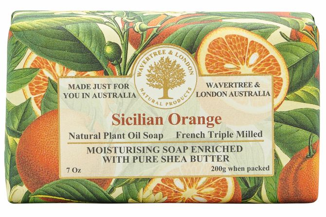 Sicilian Orange Scented Soap by Wavertree & London