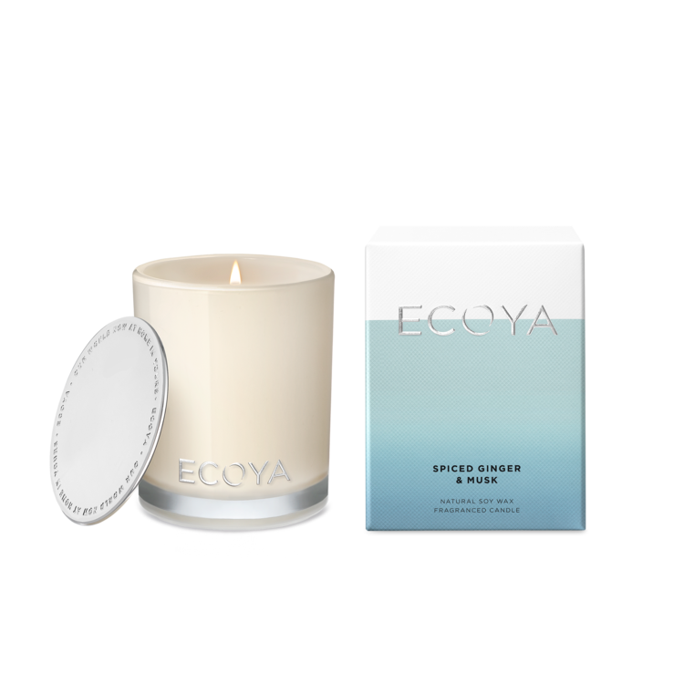 Ecoya mini madison jar candle - spiced ginger & musk