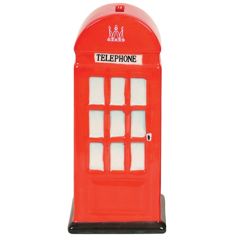 Money box - ceramic London telephone box
