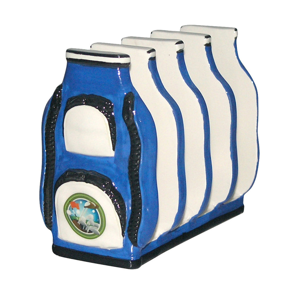 Toast rack - golf bag in blue
