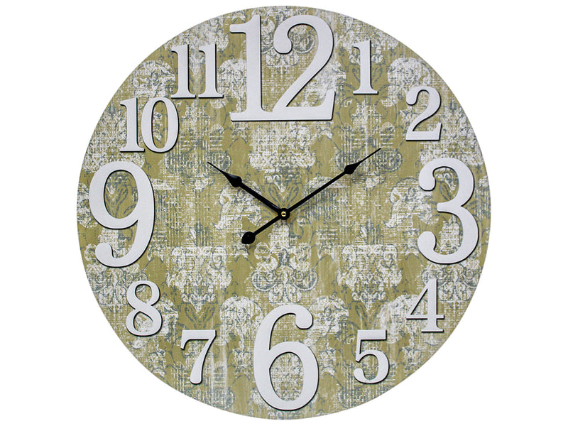 Round Wall Clock with vintage motif