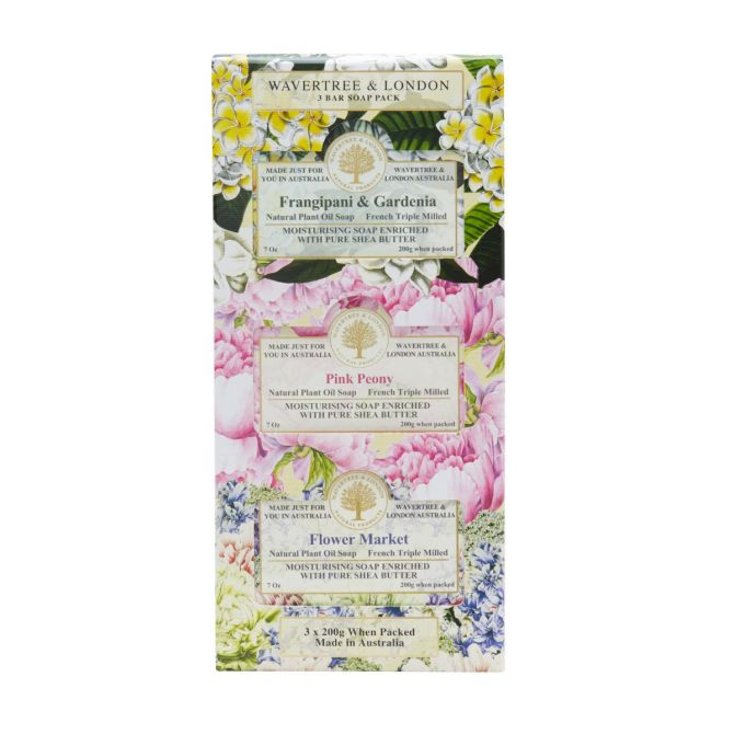 Trio Scented Soap Pack by Wavertree & London (Made in Australia)