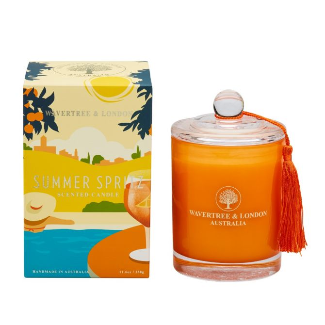 Summer Spritz Scented Candle by Wavertree & London (Made in Australia)