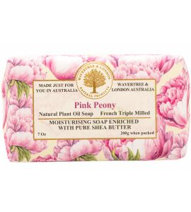 Pink Peony Scented Soap from Wavertree & London (Made in Australia)