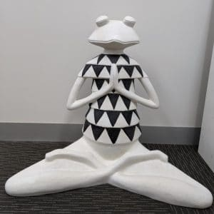 Figurine- frog triangle in yoga pose