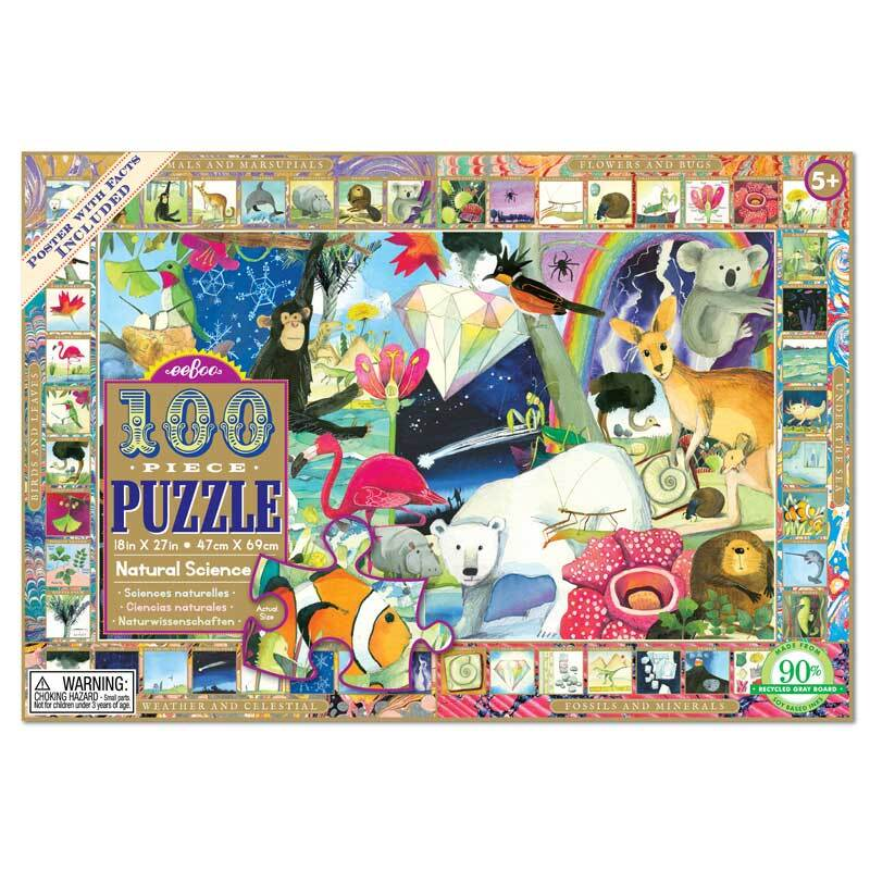 100 Piece Natural Science Jigsaw Puzzle for Ages 5+