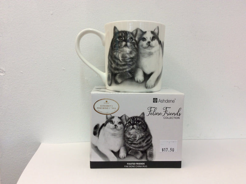 Fixated Friends Cat Mug from Ashdene's Feline Friends Collection