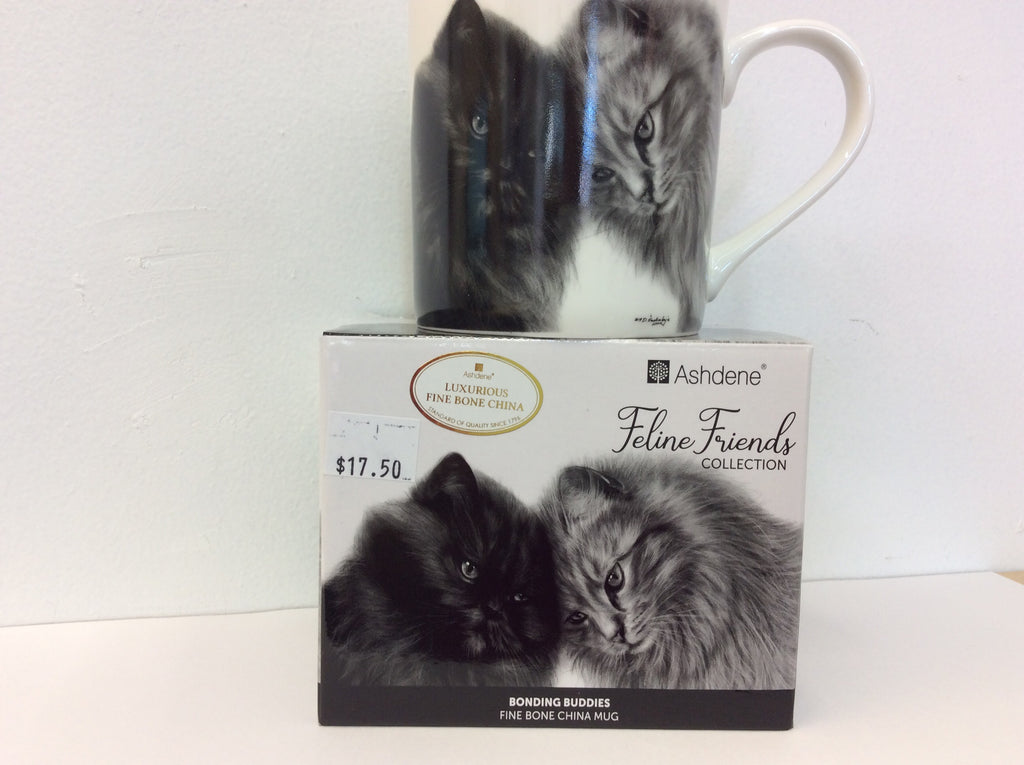 Bonding Buddies Cat Mug From Ashdene's Feline Friends Collection