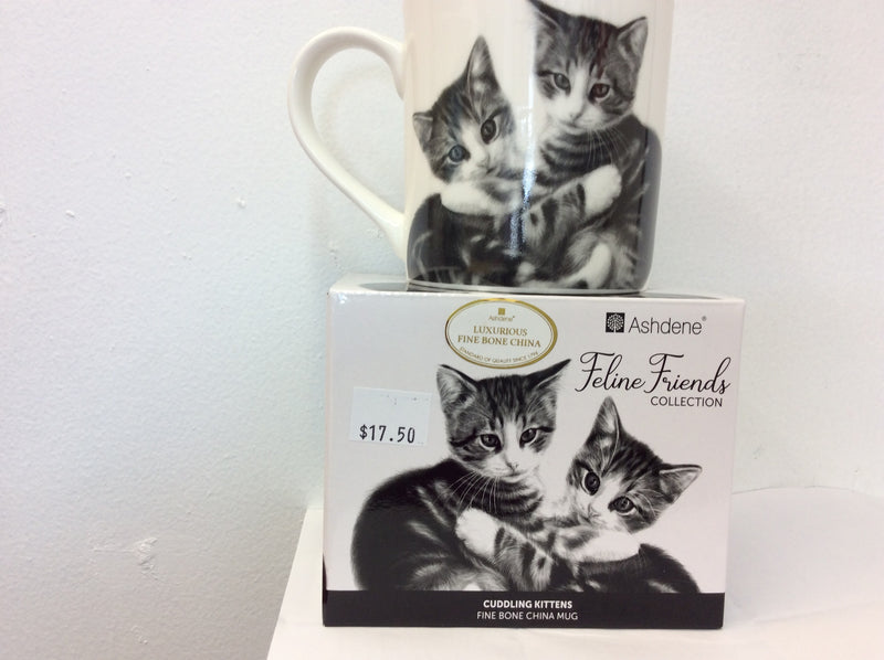 Cuddling Kittens Cat Mug from Ashdene's Feline Friends Collection