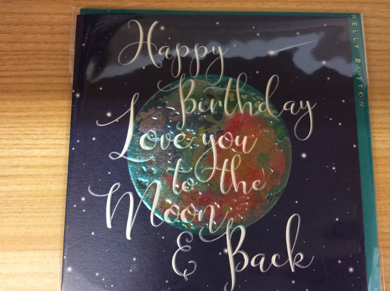Gift card - Happy birthday love you to the moon and back
