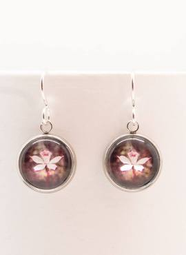 Drop Earrings with Alpine Finger Orchid Design by Myrtle & Me (Made in Tasmania)