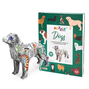 3D Puzzle book with colouring pens