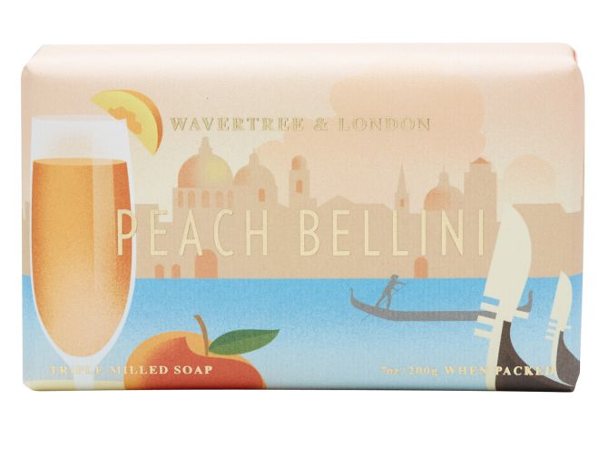 Peach Bellini Scented Soap by Wavtertree & London