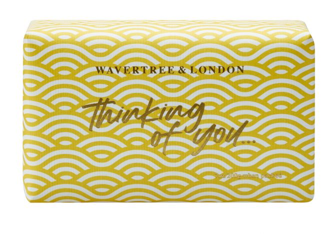 Frangipani & Gardenia Scented Celebration Soap - Thinking of You by Wavertree & London
