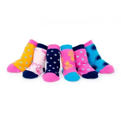 Socks - tippy toes tropical girls 0-12 months