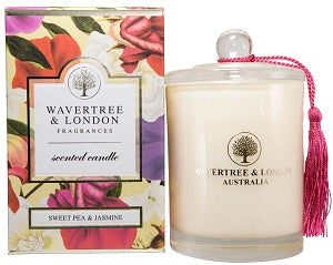 Sweet Pea & Jasmine Scented Candle by Wavertree & London (Made in Australia)