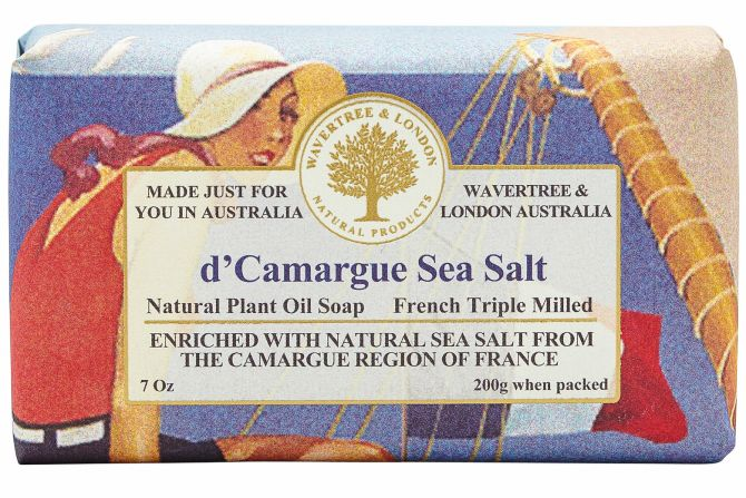 French Sea Salt Scented Soap by Wavertree & London (Made in Australia)