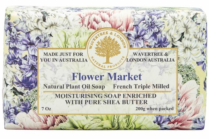 Flower Market Scented Soap by Wavertree & London (Made in Australia)