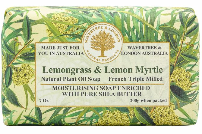Lemongrass & Lemon Myrtle Scented Soap by Wavertree & London