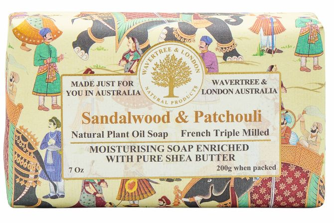 Sandlewood & Patchouli Scented Soap by Wavertree & London