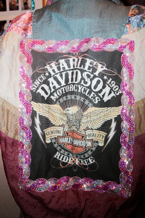 I marry my boy on his harley