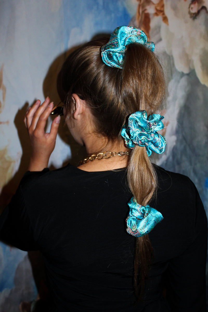 Blue Asia Queen Scrunchie