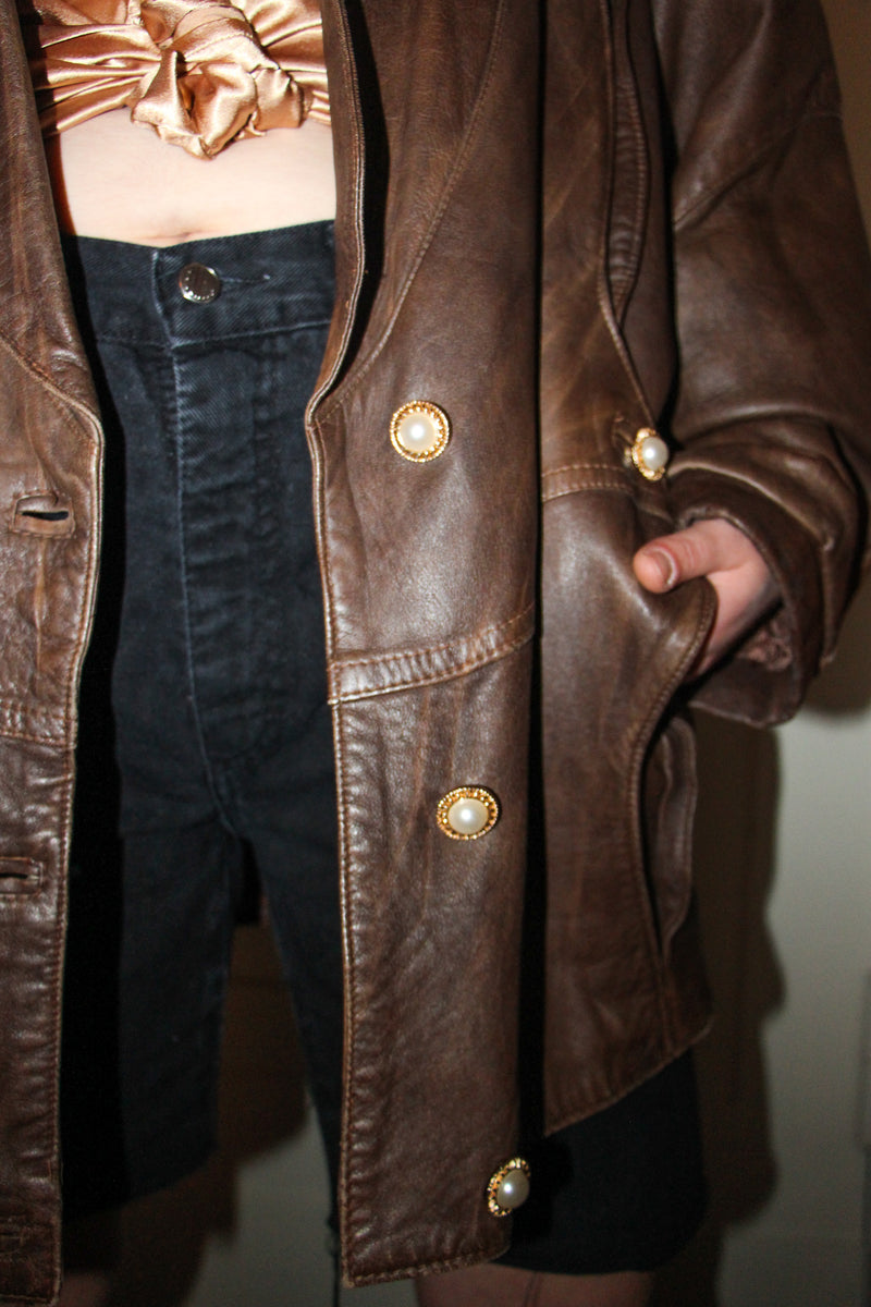 Brown'n'Pearls leather dream