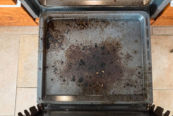 How to clean off burnt baking pans