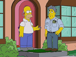 homer simpson with jay leno predictions