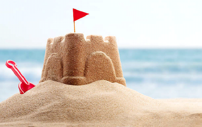 bucket and shovel for beach sandcastle