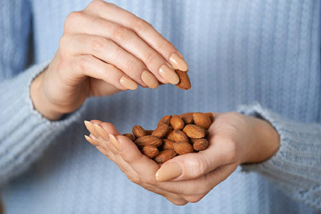 almonds and cosmetic treament