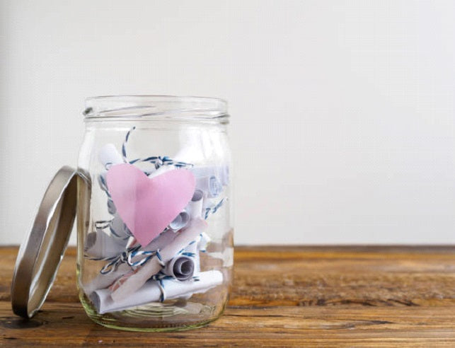 jar with written love letters