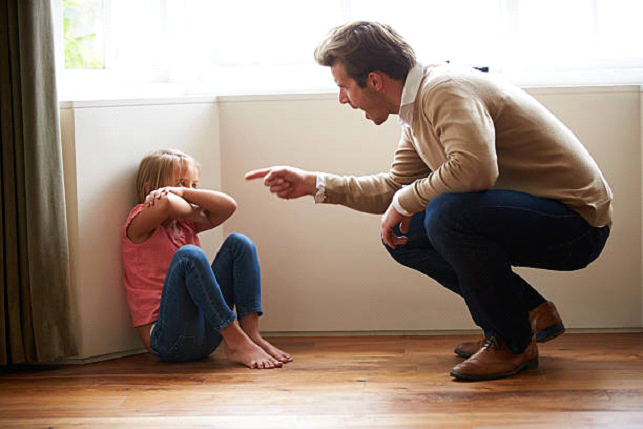 father yelling at kid psychological abuse